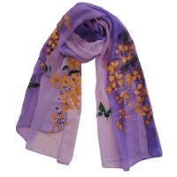 "SSCPP117 ""Serendipity"" Hand Painted Scarf"