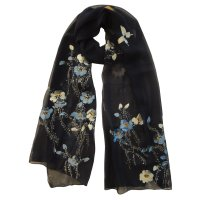 "SSCSP126 ""Dance In The Winter"" Hand Painted Scarf"