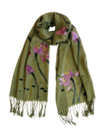 "CSCLO141 ""Elegance"" Hand Painted Scarf"
